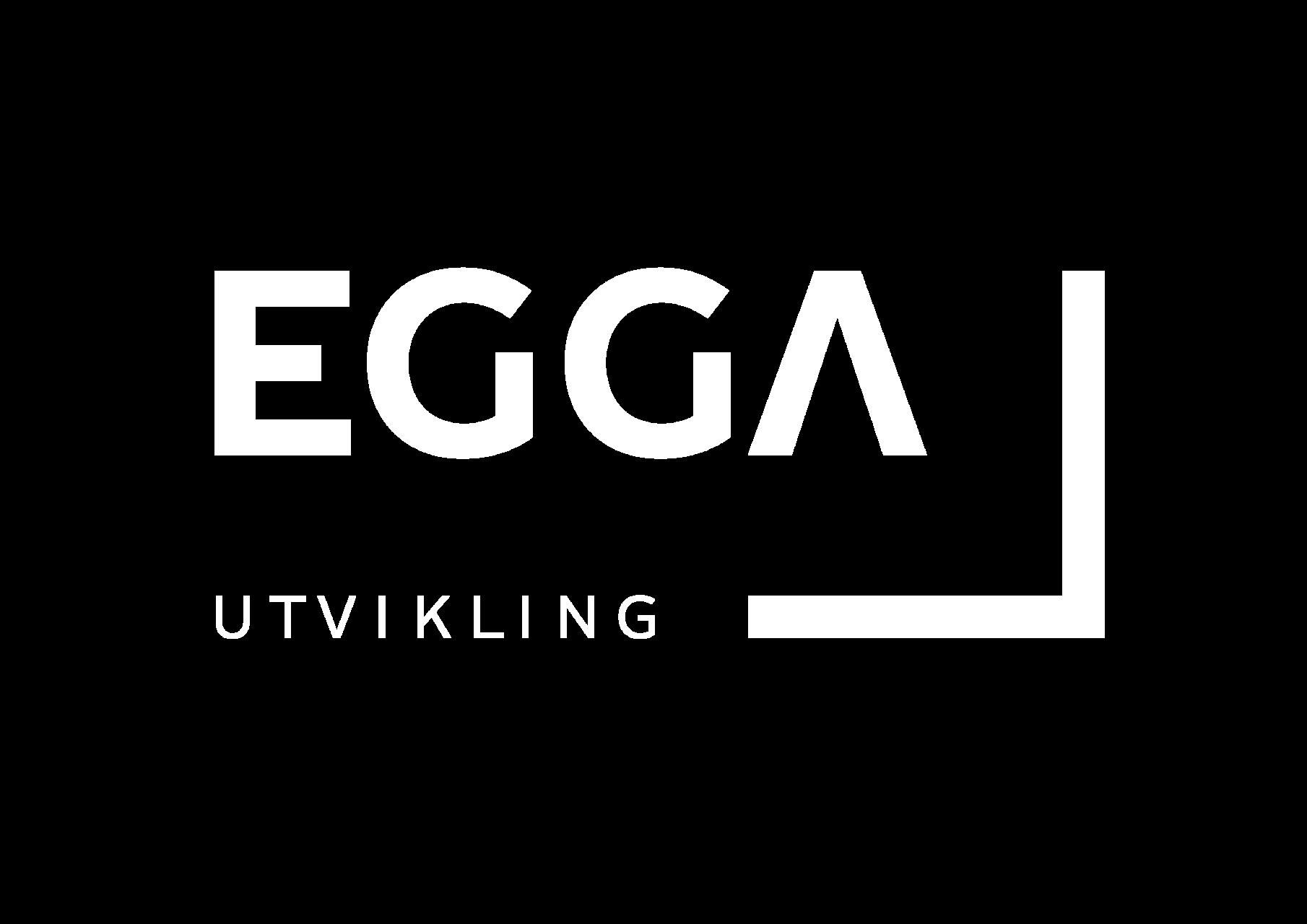 Egga logo hvit